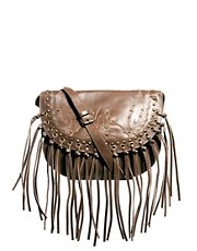 Mango Touch Western Fringed Cross Body Bag