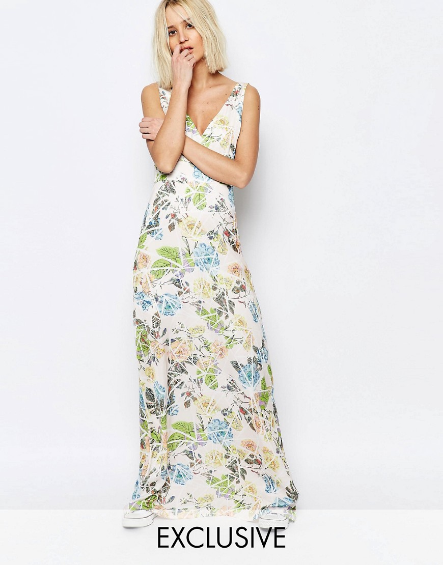 Every Cloud Broken Floral Yang Maxi Dress