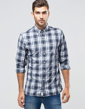 Tommy Hilfiger Shirt With Blue Check In New York Regular Fit