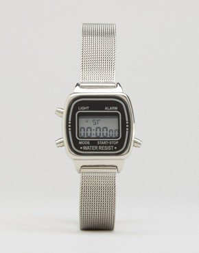 ASOS Mini Digital Mesh Strap Watch