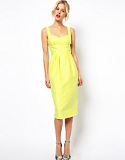 ASOS Pencil Dress In Fluro Jacquard