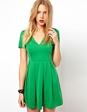 Lavish Alice Structured Skater Dress