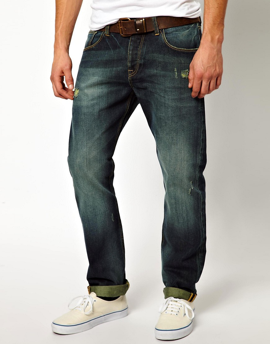 Image 1 of ASOS Straight Jeans With Rips