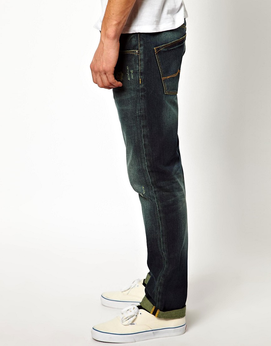 Image 4 of ASOS Straight Jeans With Rips