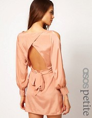 ASOS PETITE Exclusive Dress With Split Sleeves And Cut Out Back