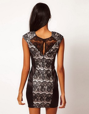 Image 2 ofLipsy Lace Panel Dress