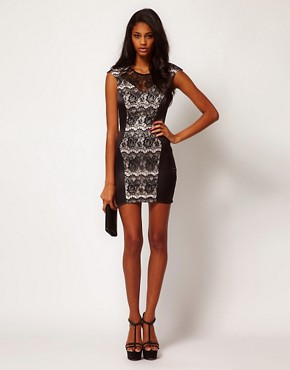 Image 4 ofLipsy Lace Panel Dress