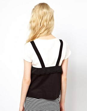 Image 2 ofSonia by Sonia Rykiel Dungaree Tshirt in Silk with Tshirt Underlay