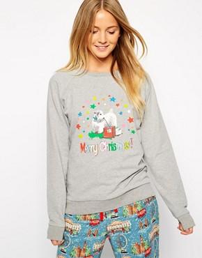 Cath Kidston Christmas Lolita Printed Nightwear Sweatshirt