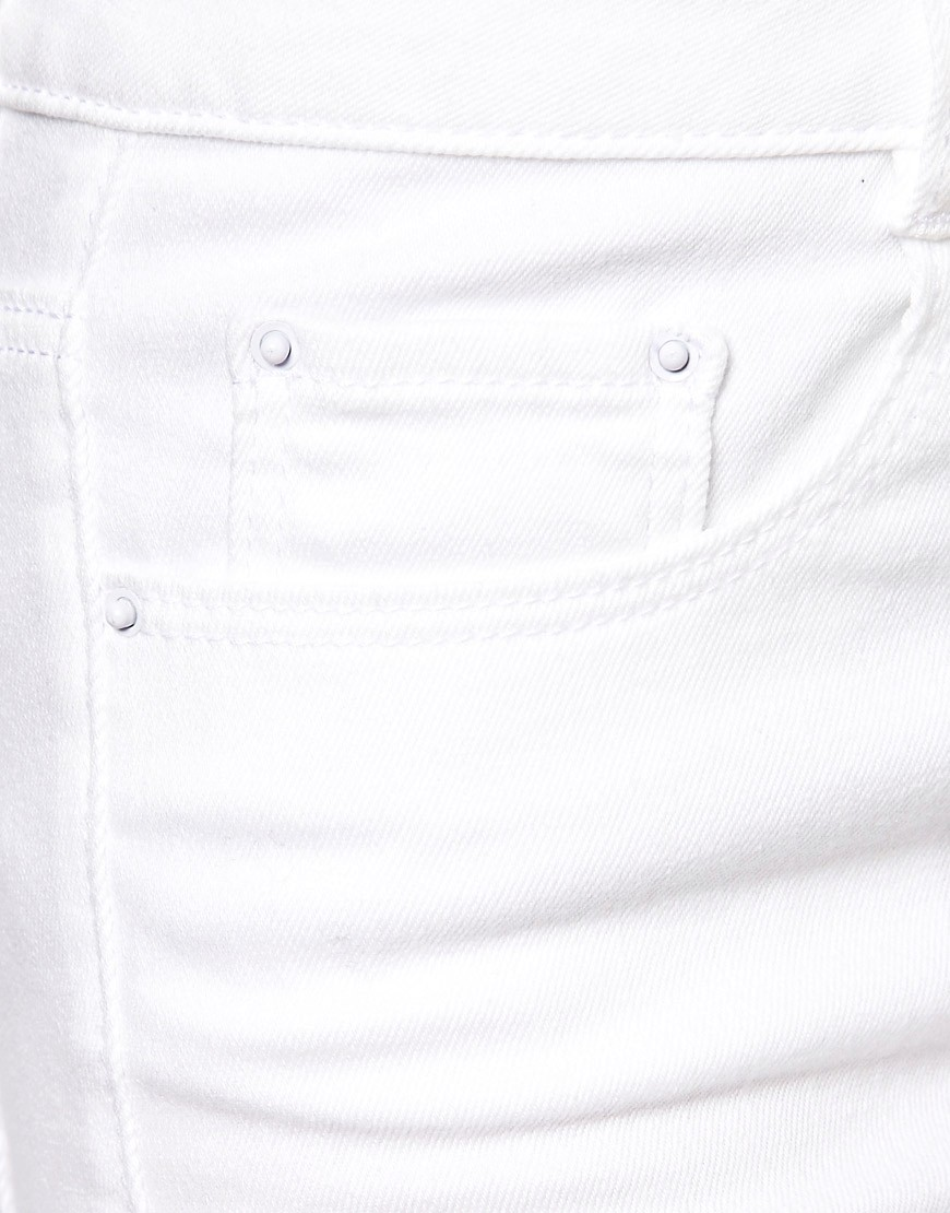 Image 3 of ASOS  PETITE Ridley High Waist Ultra Skinny Jeans In White