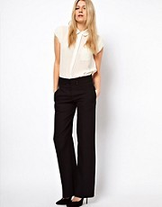 ASOS Wide Leg Trousers with Tab