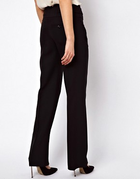 Image 2 ofASOS Wide Leg Trousers with Tab