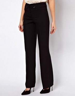 Image 4 ofASOS Wide Leg Trousers with Tab