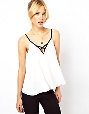 ASOS Cami With Contrast Cross front Detail