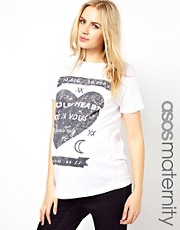 ASOS Maternity Stolen Hearts Oversized T-Shirt
