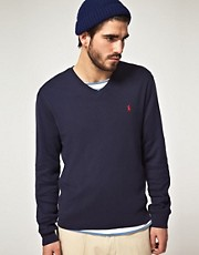 Polo Ralph Lauren - Maglia con scollo a V in cotone Pima