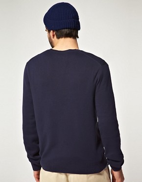 Image 2 ofPolo Ralph Lauren Pima Cotton V Neck Jumper