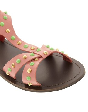 Image 3 of ASOS FETCH Leather Studded Sandals