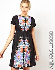 ASOS Maternity Skater Dress with Floral Placement