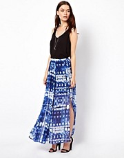 Warehouse Tie Dye Maxi Skirt