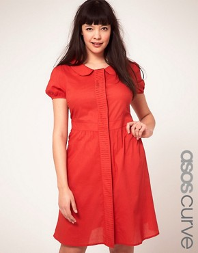 Bild 1 von ASOS CURVE  Exklusives Hemdkleid mit Falten