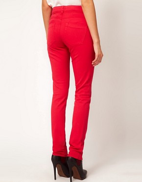Image 2 ofASOS Skinny Jeans in Poppy Red #4