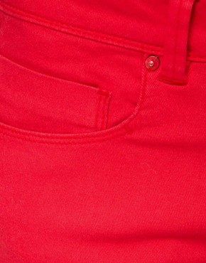Image 3 ofASOS Skinny Jeans in Poppy Red #4