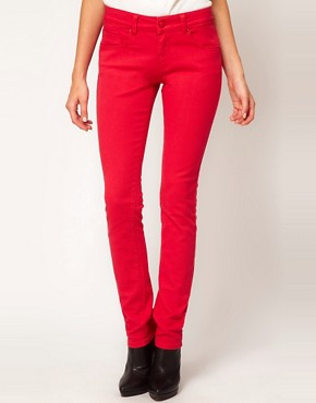 Image 1 ofASOS Skinny Jeans in Poppy Red #4