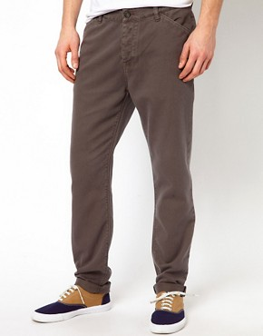 Image 1 ofASOS Slim Chino In Heavyweight Twill