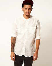 Replay Shirt Long Sleeve Grandad 2 Pocket