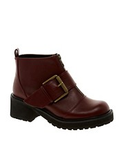 ASOS AIRWAY Biker Ankle Boots