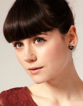 Image 2 ofASOS Enamelled Love Heart Stud Earrings