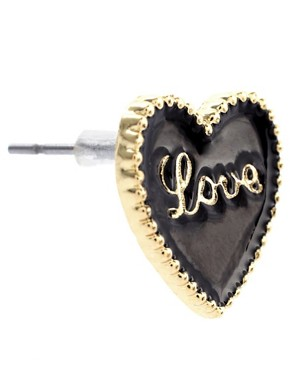 Image 3 ofASOS Enamelled Love Heart Stud Earrings