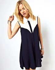 ASOS Shirt Dress with Colour Block Panels