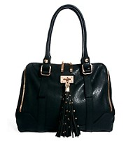Faith Studded Tassel Kettle Bag