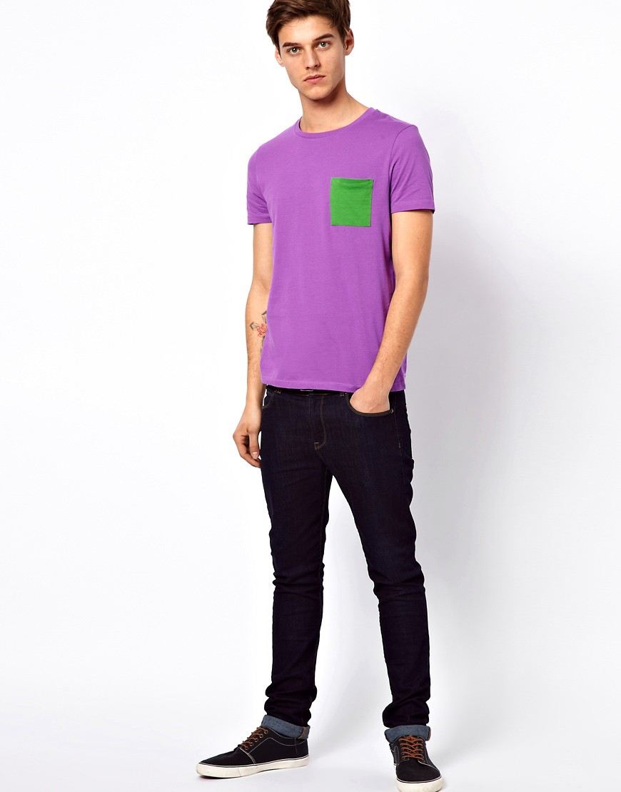 Image 4 of ASOS T-Shirt With Contrast Pocket