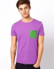 ASOS - T-shirt con  tasca a contrasto