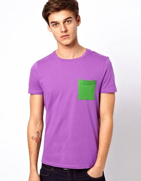 Image 1 ofASOS T-Shirt With Contrast Pocket