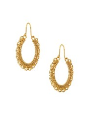 Orelia Filigree Hoop Earrings