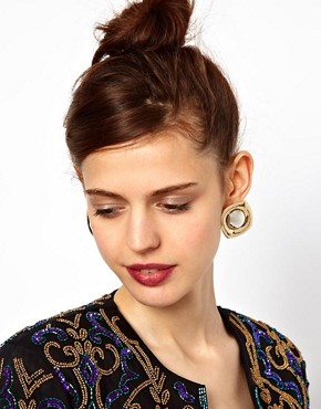Image 2 ofASOS Saucer Stud Earrings