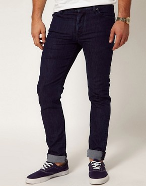Image 1 ofASOS Skinny Jeans In Dark Blue