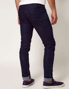 Image 2 ofASOS Skinny Jeans In Dark Blue