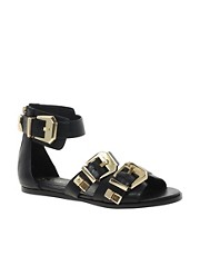River Island Buckle Flat Sandals
