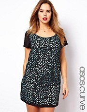 ASOS CURVE Exclusive Shift Dress With Cutwork