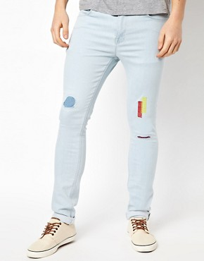 Image 1 ofASOS Super Skinny Jeans With Embroidery