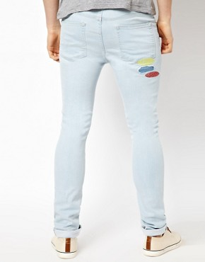 Image 2 ofASOS Super Skinny Jeans With Embroidery