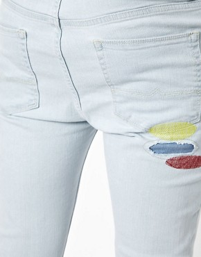 Image 3 ofASOS Super Skinny Jeans With Embroidery
