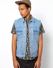 Bellfield Sleeveless Denim Jacket
