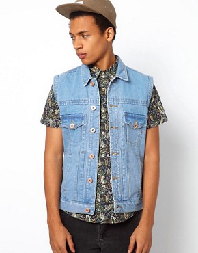 Image 1 ofBellfield Sleeveless Denim Jacket