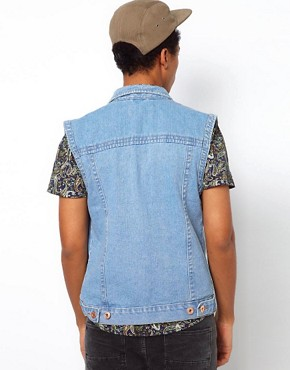 Image 2 ofBellfield Sleeveless Denim Jacket